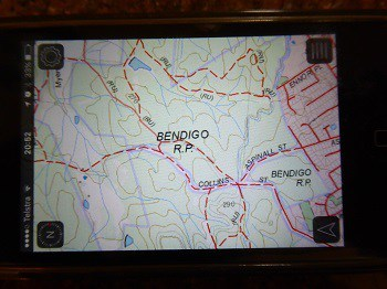 VMS maps are very similar to the paper version. Bendigo regional park